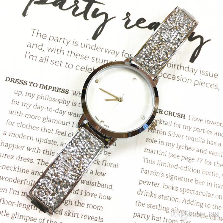 2019 Neues Modell Frauen-Uhr-Luxus voll Diamanten spezieller Entwurf Relojes De Marca Mujer Lady Uhr-Kleid-Uhr-Quarz-Drop-Shipping