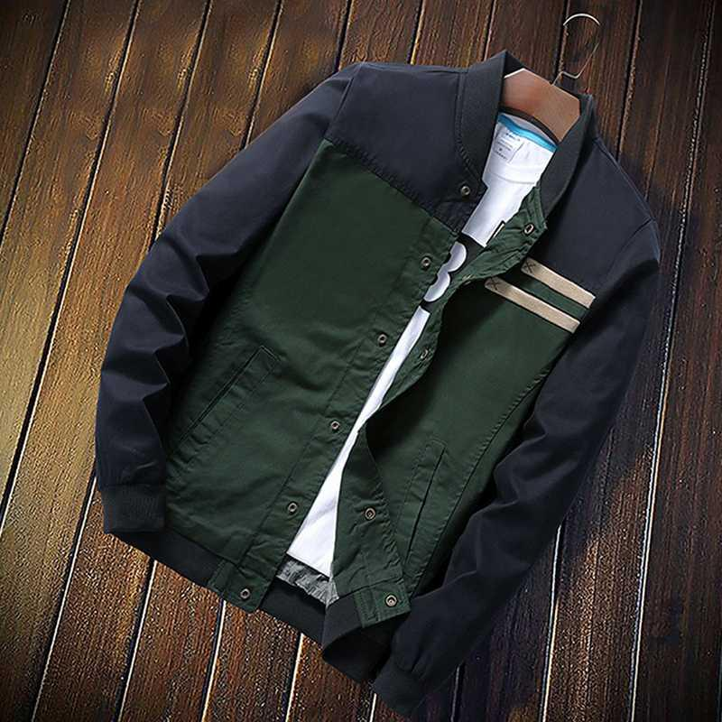 Men's Jackets 2021 Mens Spring Autumn Casual Coats Bomber Jacket Slim Fashion Male Outwear Brand Clothing