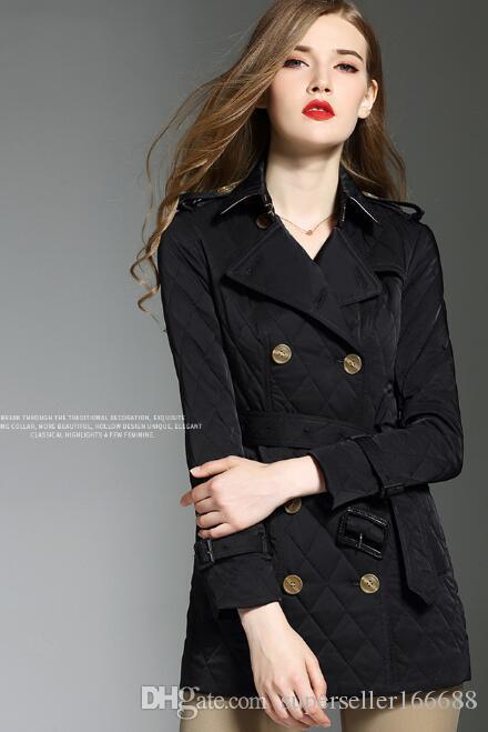 neue heiße warme Jacke Frauen Winter Herbst Kurzwollgürtel-Mantel-Jacke Stilvolle Overcoat Wollmischungen Mäntel