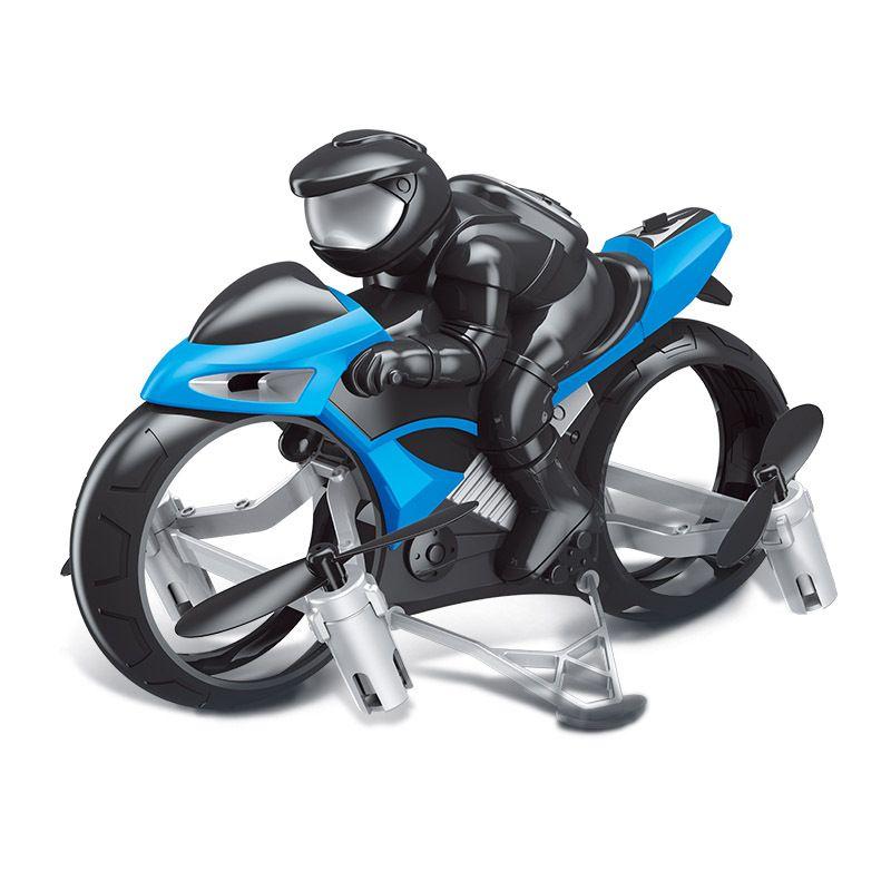 2 В одном пульте дистанционного управления Transhile Modcoupter Mothercycle Motherycle Toy, Dual Mode Drone, 360 ° Flip красочные огни, рождественские подарки мальчика, 2-1