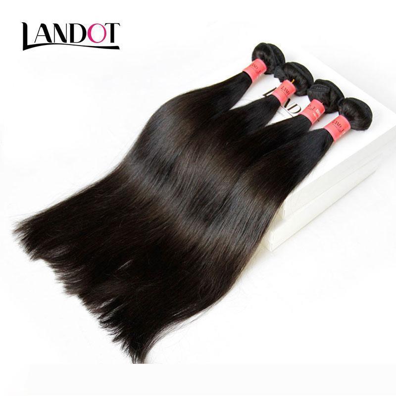 البرازيلي الشعر 100٪ غير المجهزة الشعر الإنسان نسج حزم العلمية 8A البرازيلية مستقيم ملحقات الشعر الأسود الطبيعي مل 3pcs Dyeable مزدوجة اللحمة