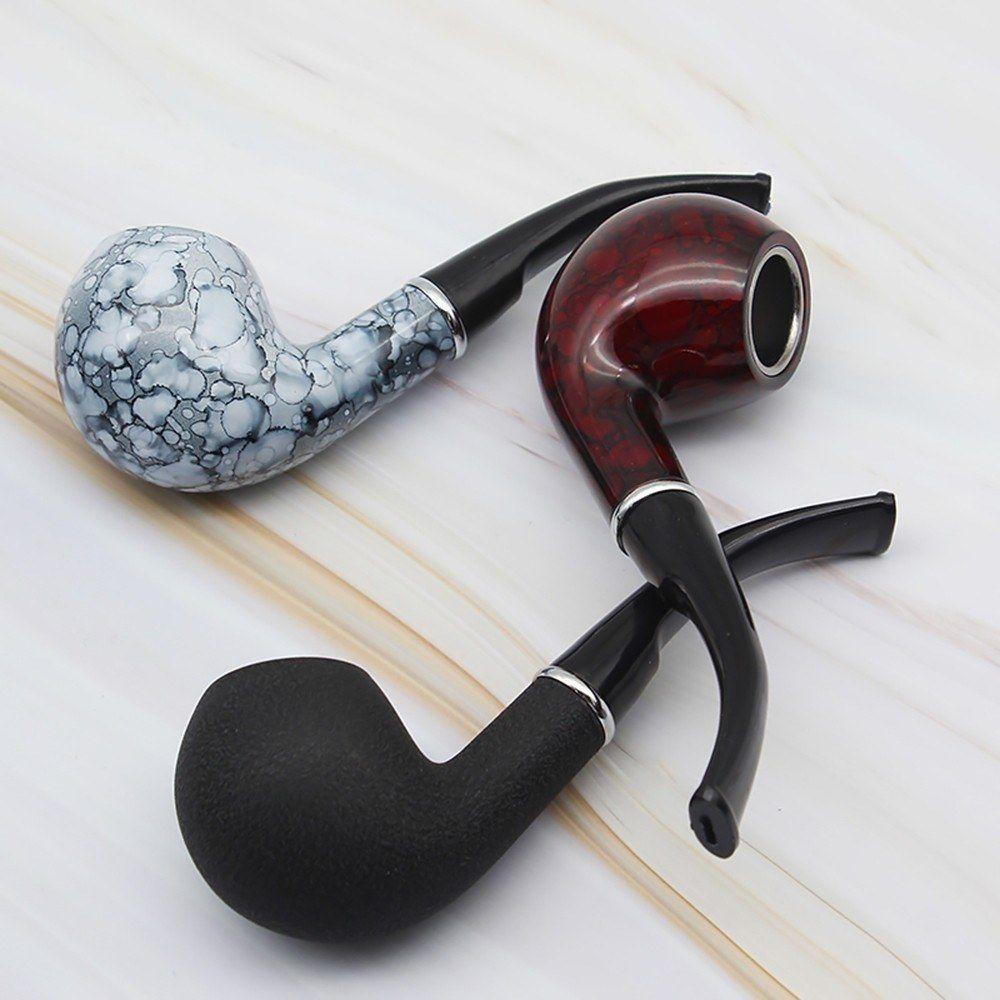 파이프 튜브 클래식 담배 담배 시가 흡연 파이프 흡연 레트로 대리석 목재