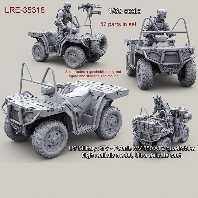 1/35 modelo de resina kit ATV Militar dos EUA-Polaris MV 850 ATV quadrobike (apenas Carro) sem pintura e desmontado Frete grátis 311G Y190530