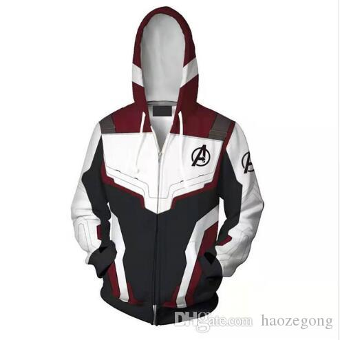 Avengers Endgame Kuantum Realm 3D Baskı Hoodies Kazak Süper Kahraman Kaptan Amerika Iron Man Ceket Ceket Tony Stark Hoodie