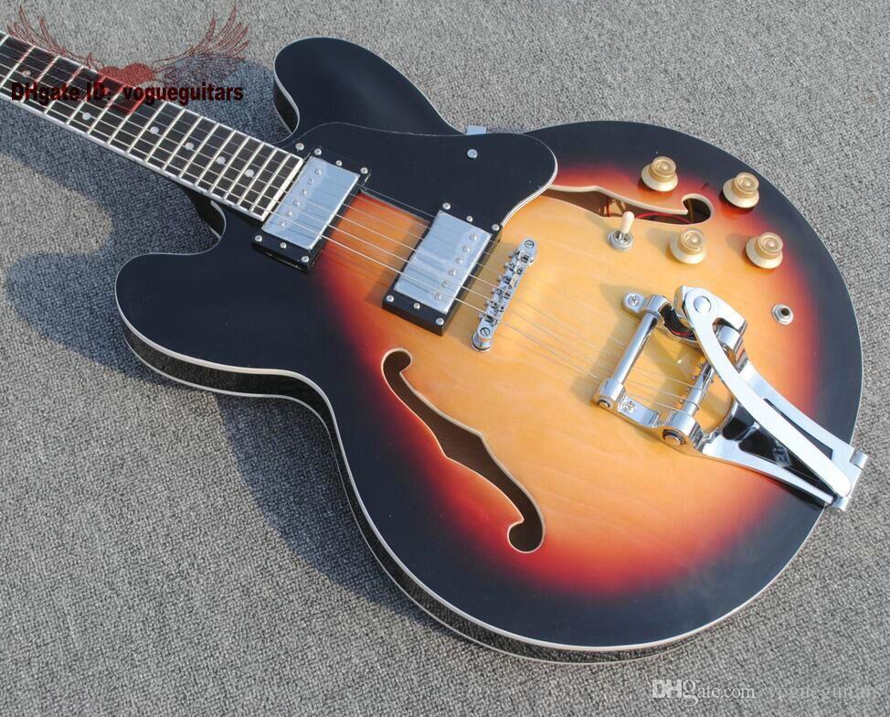 새로운 최고 품질 재즈 기타 고전 중공 재즈 기타 기타 공장 무료 배송