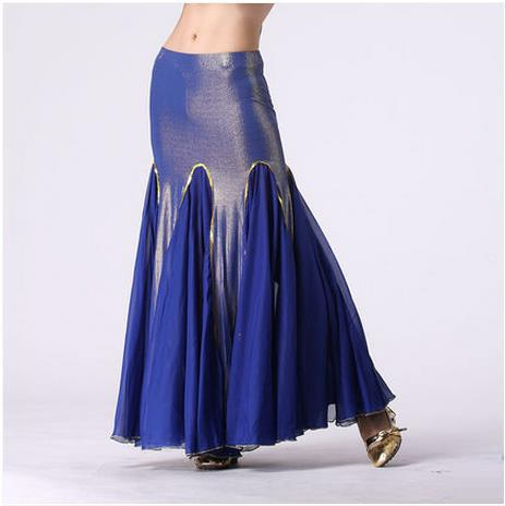 HOT SALE! new ice silk and chiffon cotton belly dance skirt women belly dance Fishtail skirts clothes