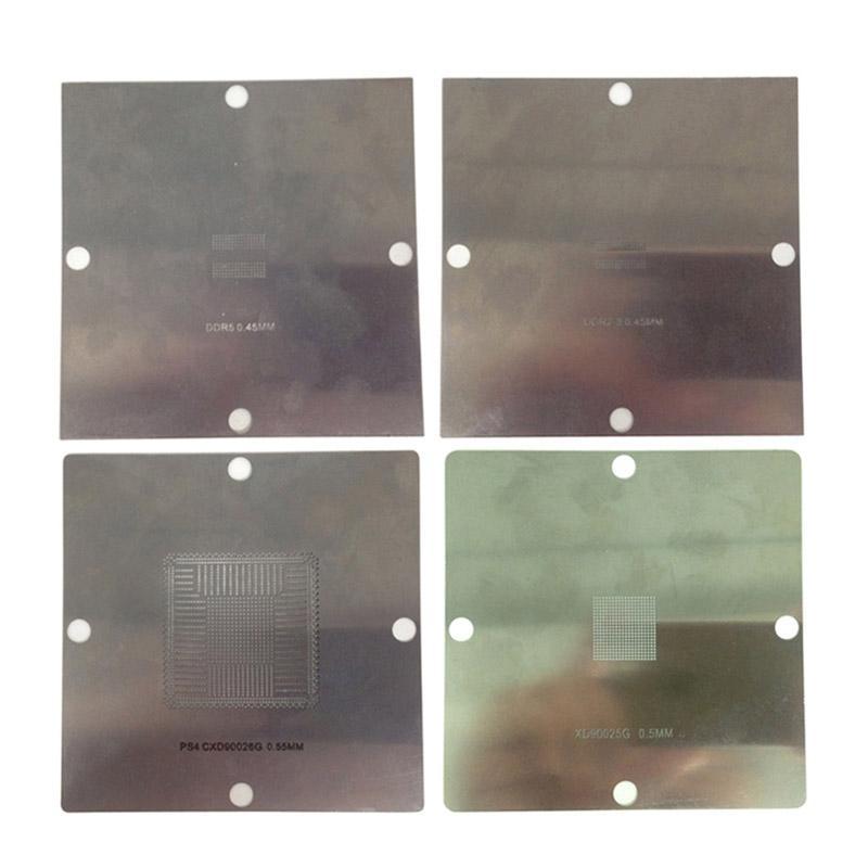 90x90mm BGA reballing stencils solder ball steel template for PS4 BGA IC reball station bga reballing kit