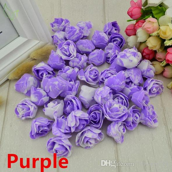 12 Heads Artificial Lavender Flower Leaves Bouquet Home Wedding Garden Deco WF