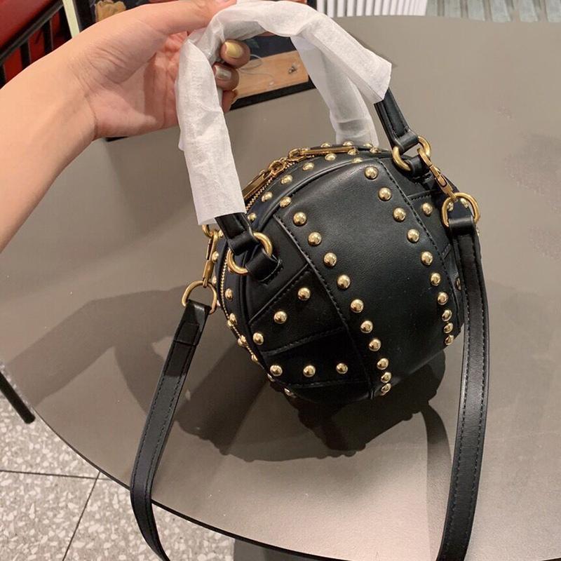 23cm High quality Round bag designer handbags purses Totes Basketball package designer crossody bag zipper lady's shoulder messenger bags