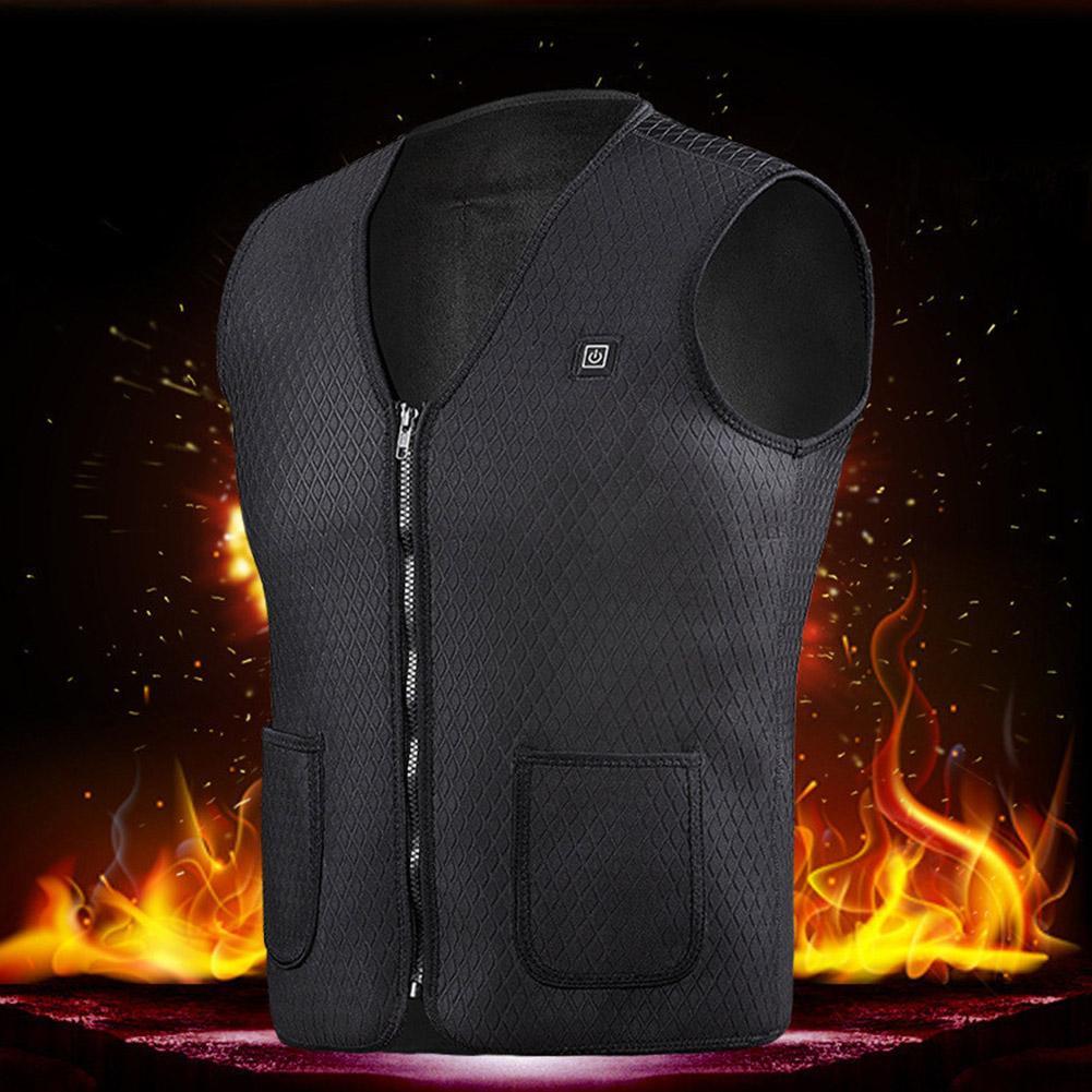 Unisexe thermostat intelligent USB chauffe-chaud thermique Gilet équitation d'extérieur Ski Randonnée Chasse Pêche Gilet de charge chauffée d'extérieur