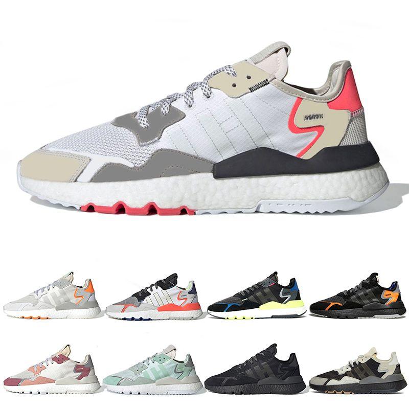 Adidas Nite Jogger 2019 Luxury Nite Jogger Reflectante Para Hombre  Zapatillas Triple Negro Blanco TRACE PINK ICE MINT Cómodo 3M Para Hombre  Zapatillas ...