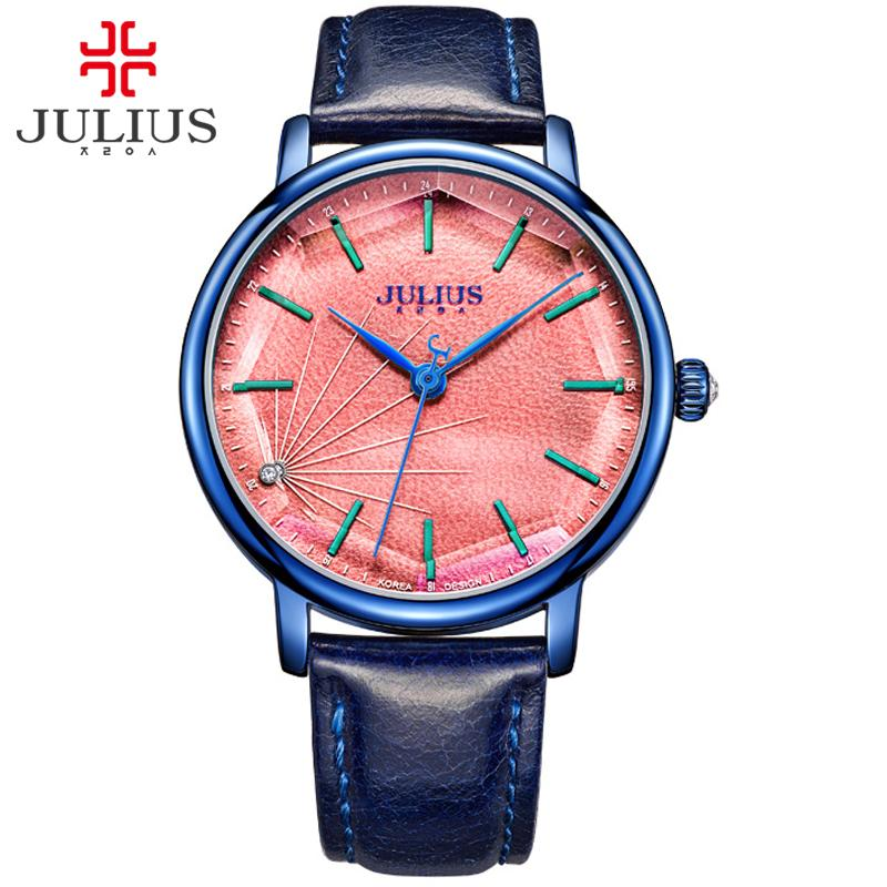 JULIUS JA-888 das mulheres à moda Spider-casados estrutural Quartz Relógio Feminino Moda Casual Relógios Vintage Clock ouro projeto Montre