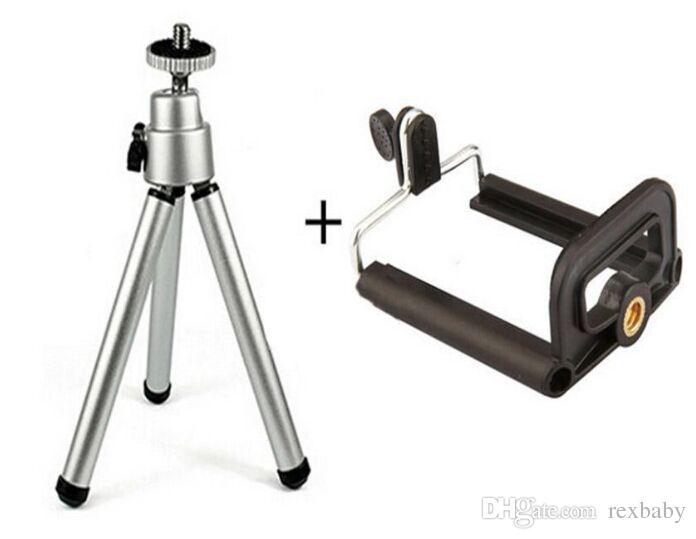 عالمي حامل ترايبود ميني المحمولة 360 الدورية للتمديد جبل ترايبود مع مقطع للكاميرا فون 8 X سامسونج S8 الهاتف المحمول