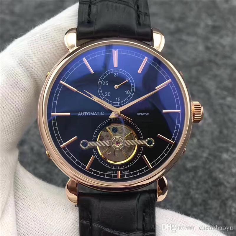 2019 popular 42 milímetros movimento automático turbilhão 2813 de alta qualidade relógio mecânico dos homens presidente Desinger popular relógio masculino