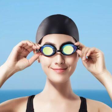XIAOMI Youpin Yunmai نظارات السباحة مجموعة HD المضادة للضباب الأنف القرمة سدادات سيليكون السباحة نظارات مجموعة 3010443A2