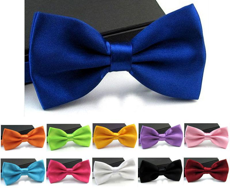 Men Classic Tuxedo Satin Solid Color Adjustable Wedding Party Bowtie Bow Tie Bridegroom Bowknot Mens Ties Wedding Decorations