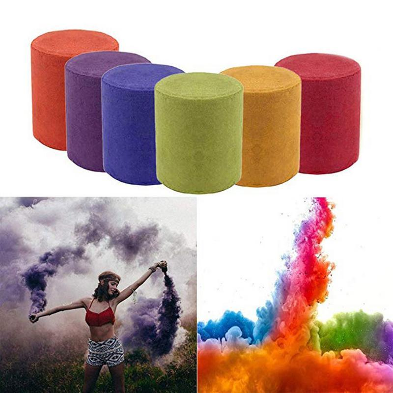 New 1pcs Colorful Smoke Magic Fun Toy Accessories Fireworks Scene Background Photography Props Smoke Soft Magic Party Decoration