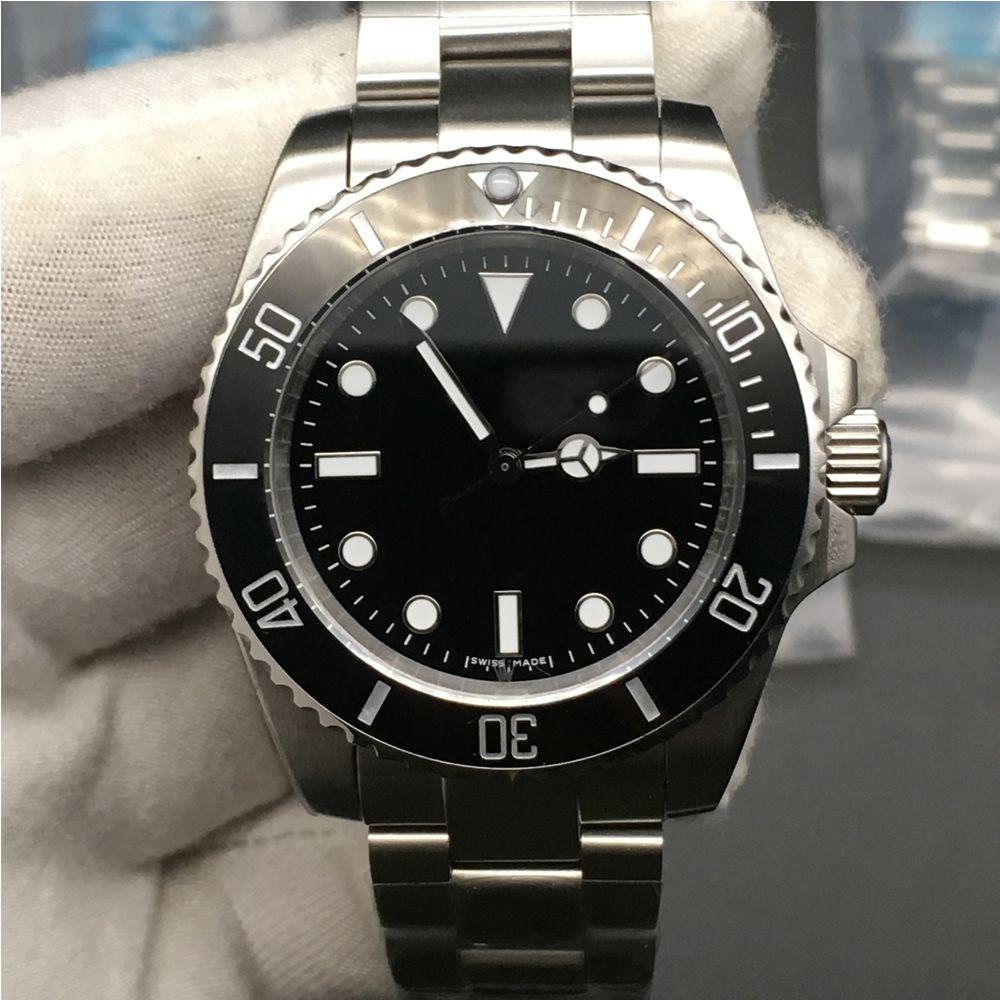 3 цвета мужские часы сапфир черный зеленый керамическая рамка из нержавеющей стали 40 мм 116610 114060 автоматические механические наручные часы подарок