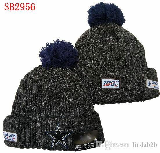DAL hat Cowboys Beanie Crucial Catch Cuffed Pom one time Women Men Sport Knit Hat All Team Winter Knitted Wool Skull Cap 1000+01