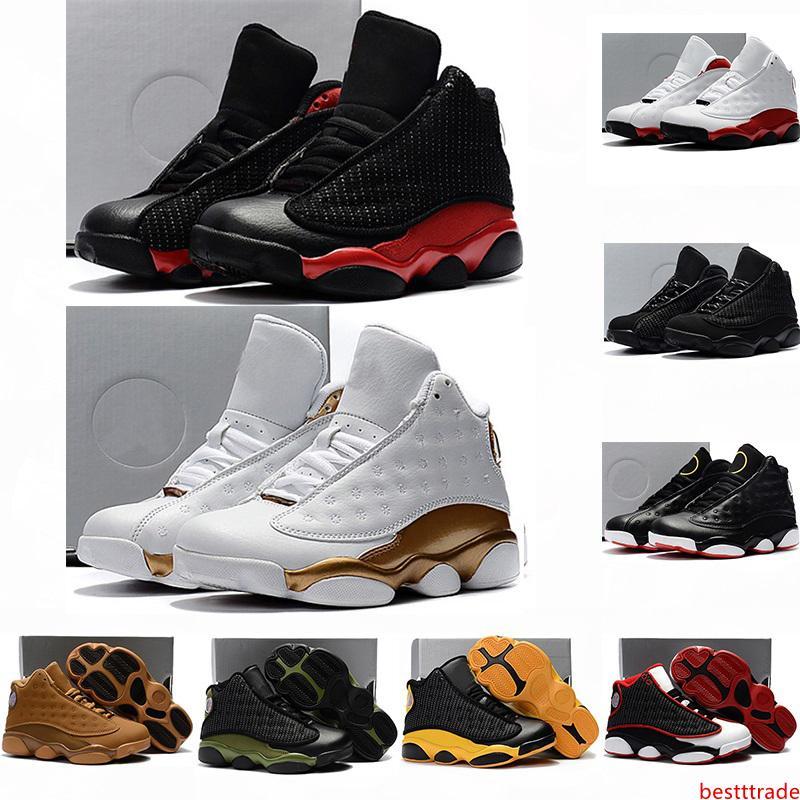 2020 infante Zapatos de los niños 13s baloncesto Bred historia del vuelo Isla Verde DMP Niño Niña 13 Calzado deportivo del Athletic Niños Sneakers