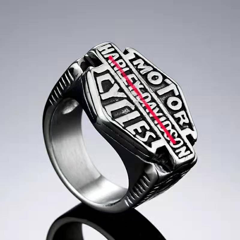 jewelry titanium steel fashion men's Pendant Harley Motorcycle ring