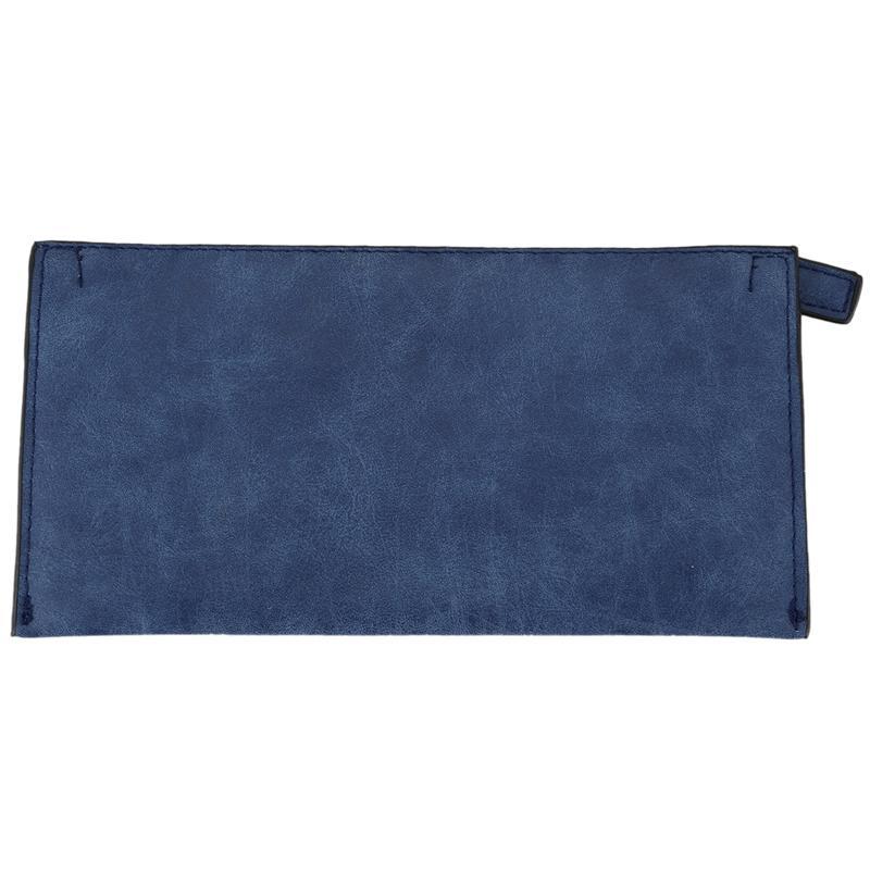 2016 Nouveau Style Long Lettre Nubuck carte Femme portefeuille Lovely femmes porte-monnaie porte-monnaie, les titulaires (bleu foncé)