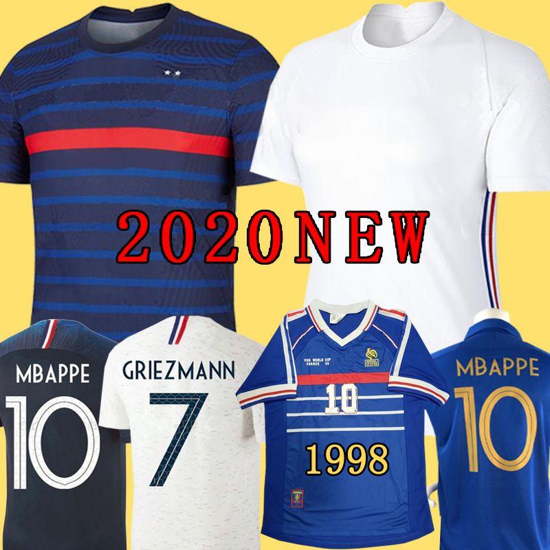 NEW 2020 MBAPPE GRIEZMANN POGBA النساء الرجال 2 نجوم كرة القدم جيرسي لكرة القدم البحرية LEMAR القمصان إيكيب كوبيه 2018 فتاة الاطفال مايوه دي طقم القدم