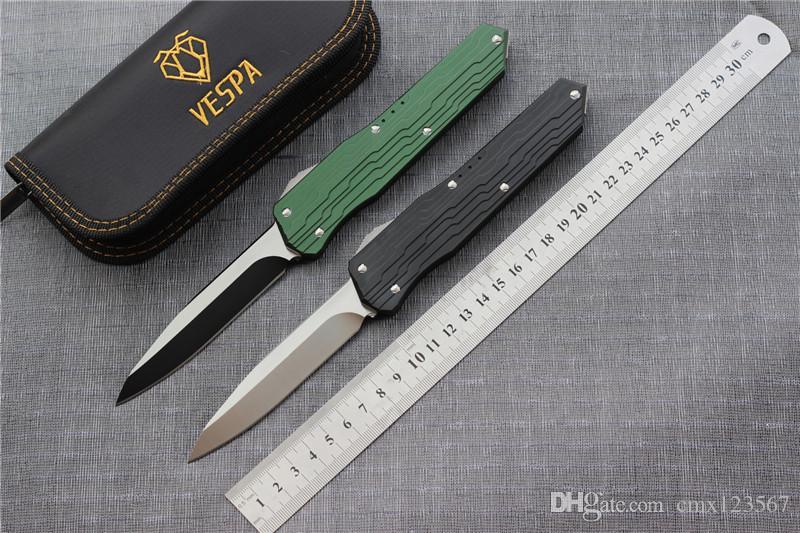 Vespa şekli bıçak katlama D2 Kolu: 7075Aluminum + TC4, Açık kamp sağkalım EDC araçları bıçaklar