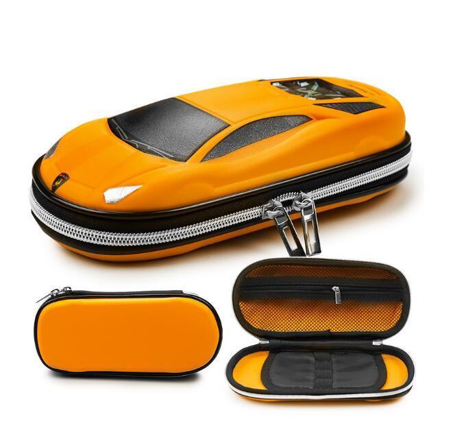 DHL Pencil Case EVA Car Zipper Pen Pouch Stationery Box Anti-Shock for School Students nf Teens Girls boys Pen bag Holder 21.5*10*6cm