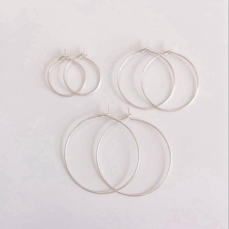 """ Fake One Penalty Ten "" 13/20/25MM 20Pcs (Mark S925) 925 Sterling Silver Earring Hoop Clasps Jewelry Findings Accessories"