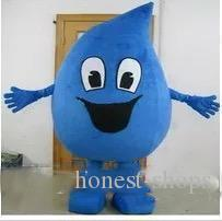 2019 factory sale blue little water drop mascot costume for adult to wear cartoon character mascots for sale