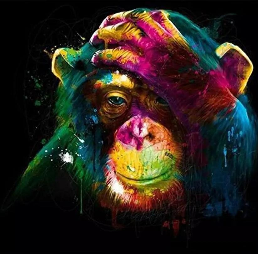 -Y-03121 animal búho gato león gorila superior pintado a mano pintura al óleo artísticos HD Pintura al óleo sobre la pintura al óleo sobre lienzo