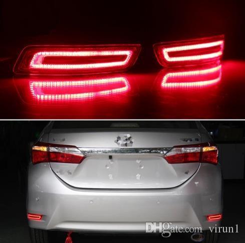For Toyota Corolla 2014 - 2018 Multi-function Car LED Rear Fog Lamp Bumper Light Brake Light Turn Signal Light Reflector