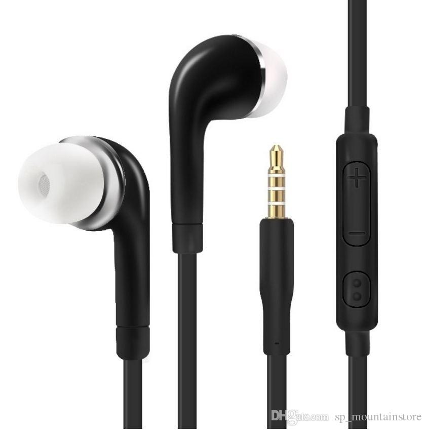 아이폰 소니 샤오 미 삼성 S7 S8 S9의 auriculares을위한 마이크와 헤드폰 3.5mm의 잭 이어폰 이어 버드 스테레오 유선 헤드셋 (소매)
