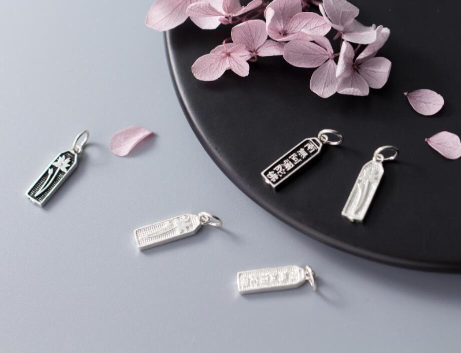 1шт стерлингового серебра 925 мода ювелирные изделия мотаться шарм подвеска DIY ювелирных изделий A2567