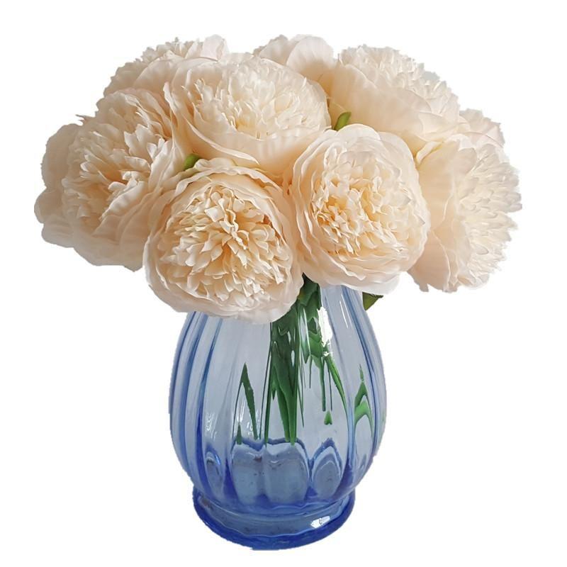 5 Голов 1 Букет Европейский Искусственный Цветок Поддельный Пион Свадебный Букет Рождественская Свадьба Главная Декоративные Шелковый Пион цветок
