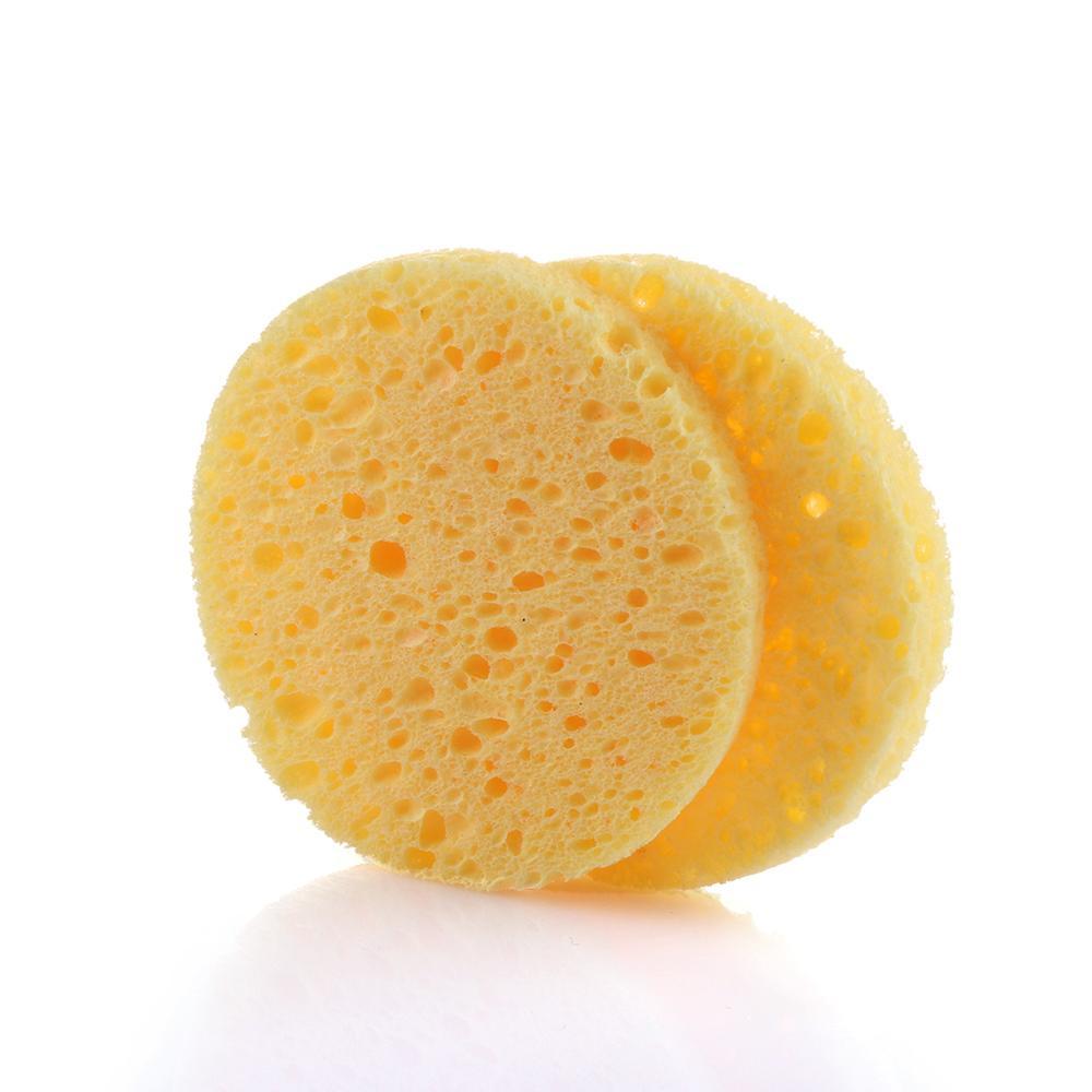 10 adet doğal odun hamuru Sünger selüloz kompres kozmetik puf yüz yıkama Sünger yüz bakımı temizlik makyaj çıkarıcı araçları