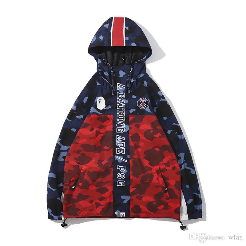 Новая осень зима новый мужской цвет камуфляж сращивания куртка любовника повседневная печать камуфляж свободные куртки топы