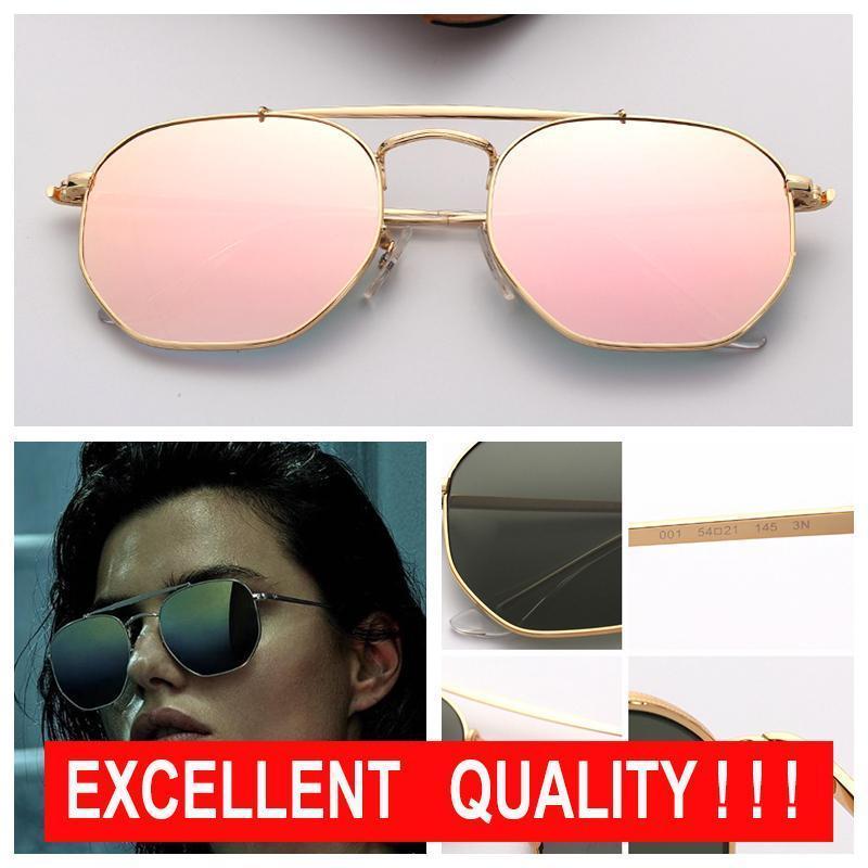Frauen Designer-Sonnenbrillen Herrenmode Sonnenbrillen Marke Sonnenbrillen Hexagonal Metall Eyeware Des Lunettes De Soleil mit freier Ledertasche