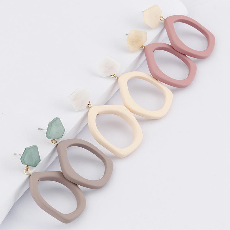 30pairs / lot Mode creux Boucles d'oreilles irrégulières pour les femmes Déclaration à long Big Pendentif géométrique boucle d'oreille Femme Party Bijoux
