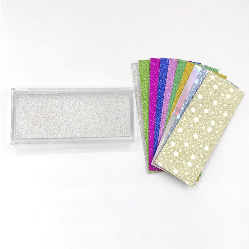 200 Pcs Background Paper Cils Glitter pour Lashes Conditionnement Boîte Rectangle Papier Glitter pour Private Label Box Cils