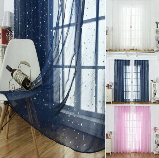 Продажи!!! Оптовые Бесплатная доставка 2.7 м Sheer Voile Window Sheer Шторы Панельные Шторы Спальня Балкон Скрининг Окна