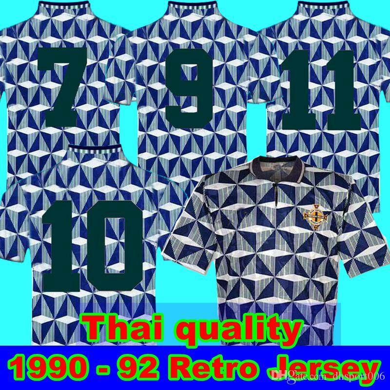 1990 92 أيرلندا الشمالية قميص بالخارج ريترو 90 91 92 أيرلندا الشمالية لكرة القدم الرجعية الكلاسيكية الفانيلة 1990 1991 1992 أيرلندا الشمالية الرجعية