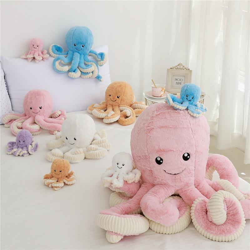 귀여운 아기 문어 인형 문어 봉제 인형 놀이 장난감 플러시 18cm 40cn 큰 선물 어린이 어린이 소년 소녀들을위한