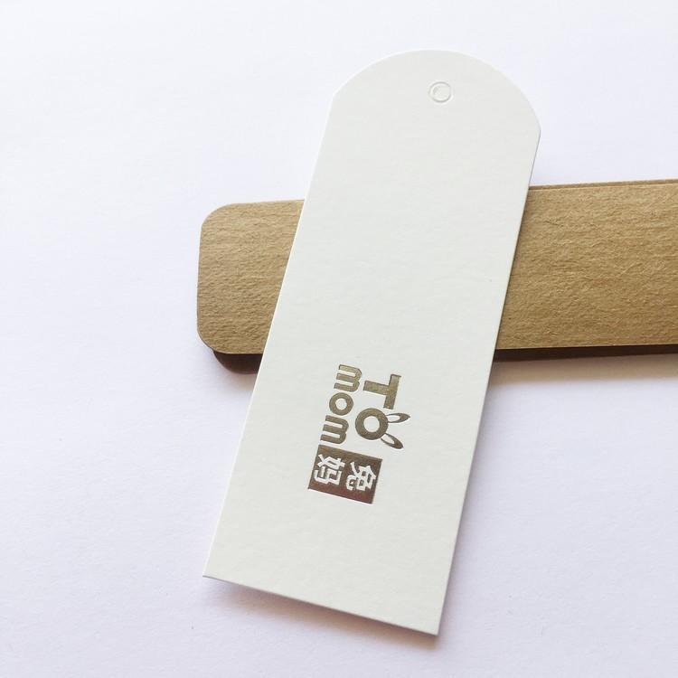 Changtag одежда тег повесить бирку пользовательские оптом 400gsm чисто белое искусство бумаги серебро горячей штампованной жареной биркой для одежды поздравительных открыток