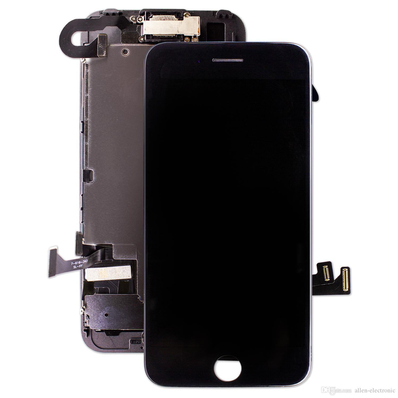 مجموعة كاملة استبدال كاملة LCD لمدة 7 فون زائد 8 زائد اللمس قوة 3D شاشة الجمعية محول الأرقام لا الميت بكسل آيفون 6S +