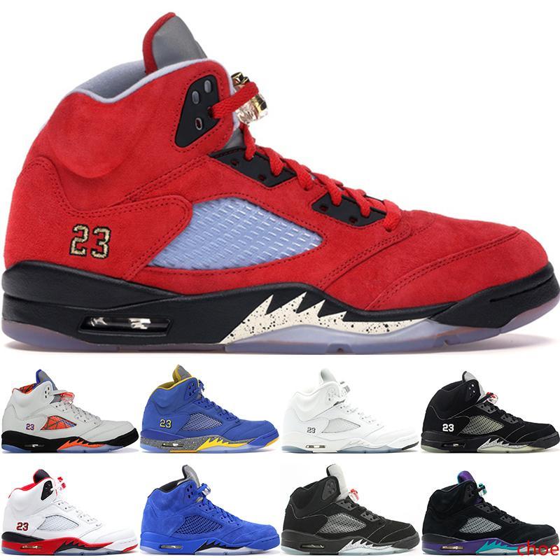 Новый 5 5s V OG Черный металлик золото белый цемент мужские баскетбольные туфли синяя замша Олимпийский металлический огонь красные спортивные кроссовки США 7-13