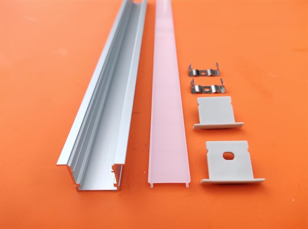 El envío libre de perfiles de aluminio con perfil de aluminio llevó la cubierta de techo empotrada u forma rebajada lineal de iluminación del panel llevada