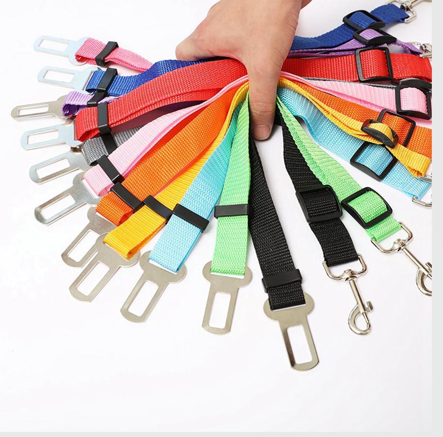 Регулируемая домашних собак Cat безопасности Ведет Автокресло Автомобиль ремень Harness Seatbelt Nylon Dog Seatbelts BBA4