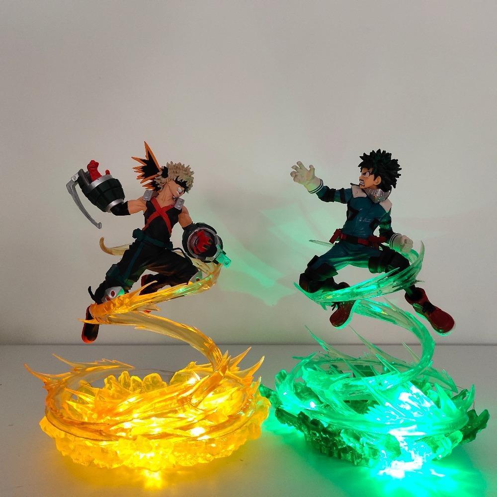 My Hero Academia Bakugou Katsuki VS Midoriya Izuku Action Figures Led Toy Boku no Hero Academia Anime Battle Scene LY191210